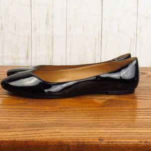 Nine West Black Patent Leather Flats 10M